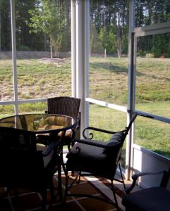 Screened In Porch North Carolina Home Backyard