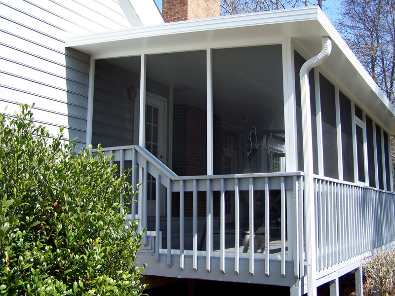 Raleigh durham nc screened porches gerald jones company for Porch durham