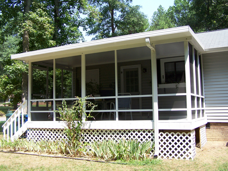 Image gallery mobile home screen porches for Modular screen porch