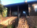 Log cabin porch railing