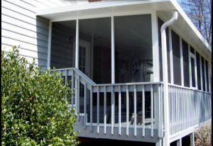 Screen porch exterior shot home